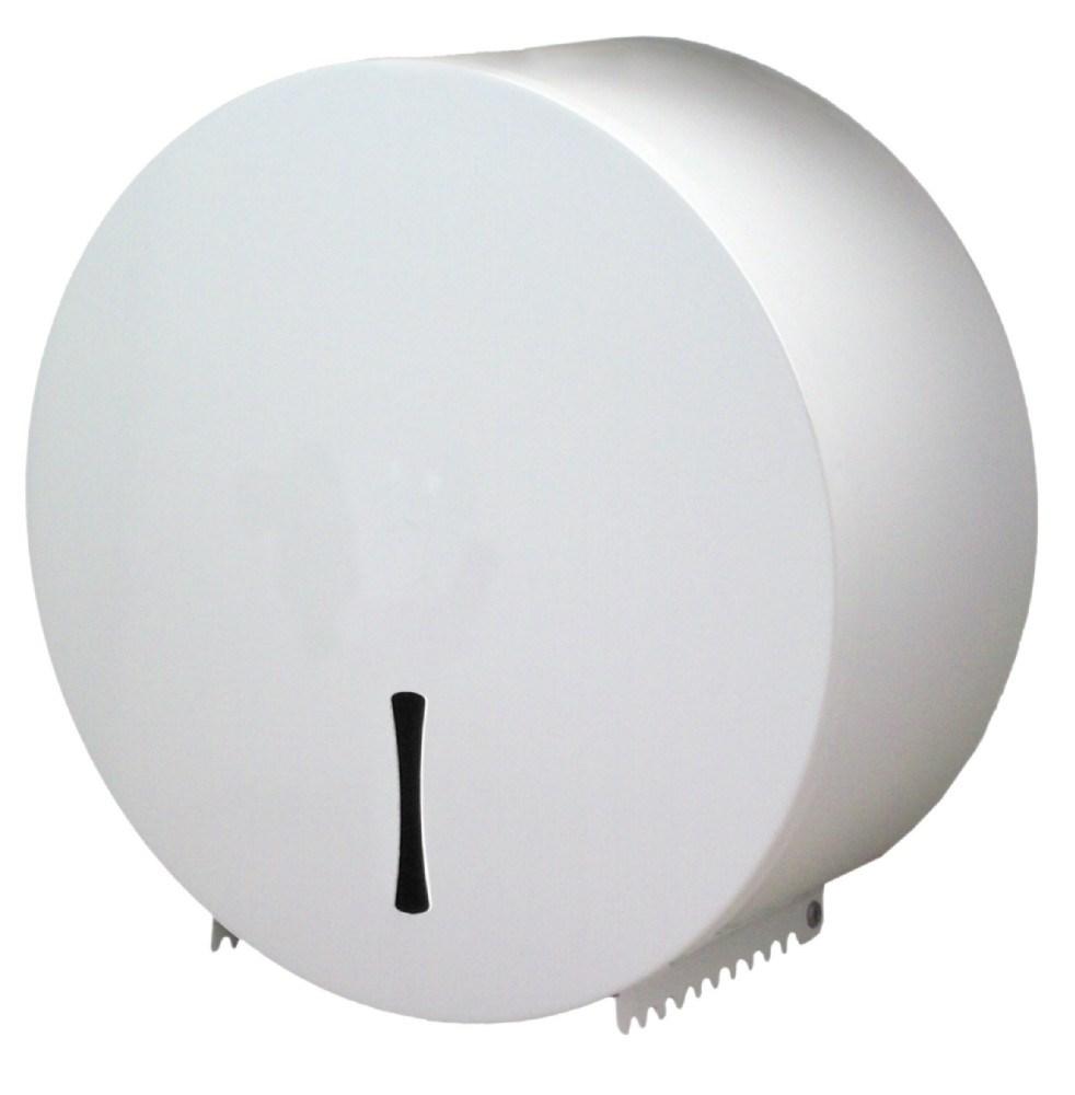 Dispensador de papel higienico blanco for Dispensador de papel higienico