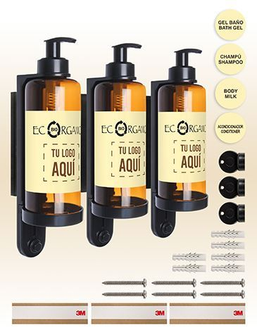 DISPENSADOR TRIPLE ECORGANIC 300 ML