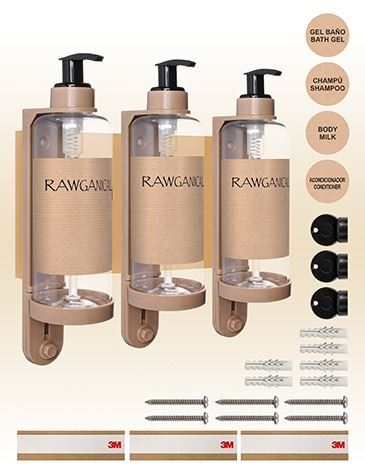DISPENSADOR TRIPLE RAWGANICAL 300 ML (1)